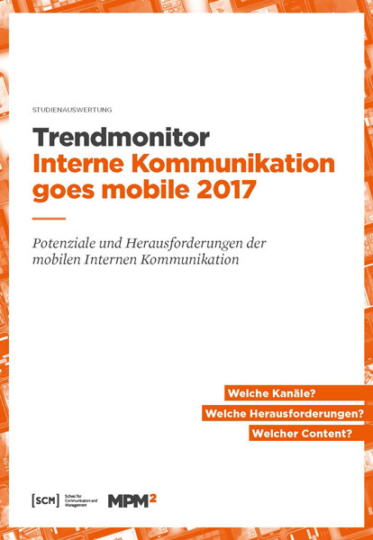 Trendmonitor Interne Kommunikation goes mobile 2017