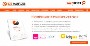 Content Marketing-Beispiel: Der B2B Manager von Saxoprint